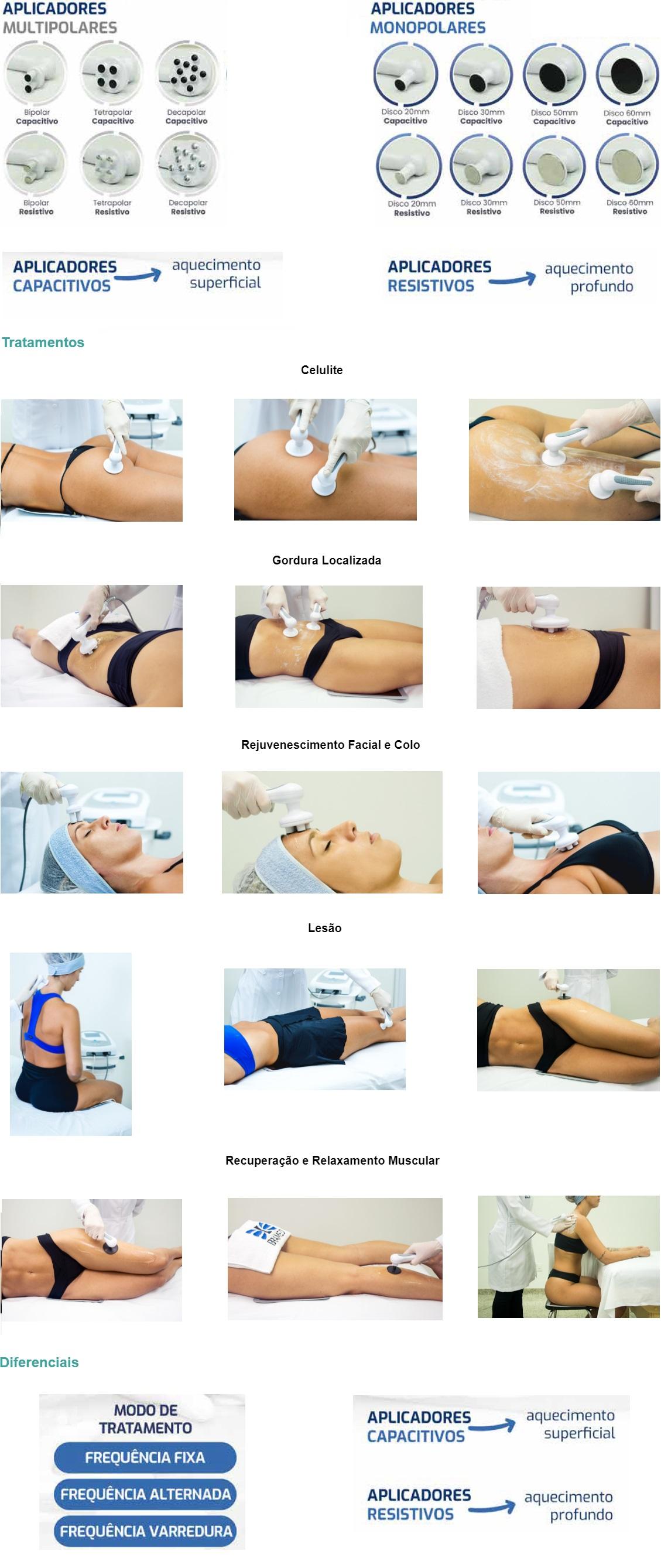 Tratamentos  Celulite Gordura Localizada   Rejuvenescimento Facial e Colo    Lesão  Recuperação e Relaxamento Muscular