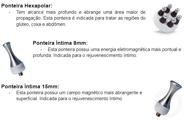 Ponteira Hexapolar, Ponteira Íntima 8mm e Ponteira Íntima 15mm